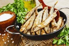 Badejo fritado dos peixes Foto de Stock