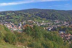 Badekurort-Bad-Kugel, Hesse, Spessart, Deutschland lizenzfreie stockbilder