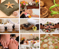 Badekurort-Collage Stockbild