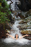 Badekurort in der wilden Natur Stockfoto