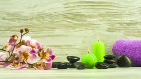 Badekurort - die Schönheit und die Sorgfalt über dem Körper Lizenzfreie Stockbilder