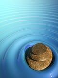 Badekurort entspannen sich SteinZenwasservulkan vektor abbildung