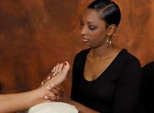 Badekurort-Fuss-Abblätterung Skincare Lizenzfreie Stockfotos