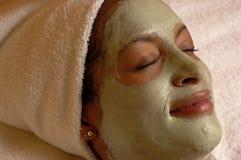 Badekurort-Gesichtsschablonen-Entspannung Lizenzfreie Stockfotos