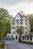Badekurort-Hotel in Karlovy Vary stockfotografie