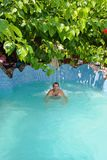 Badekurort im Pool Stockfotografie