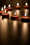 Badekurort-Kerzen-Zusammenfassung Stockfotos