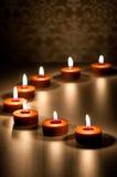 Badekurort-Kerzen-Zusammenfassung Lizenzfreies Stockbild