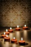 Badekurort-Kerzen-Zusammenfassung Stockbilder