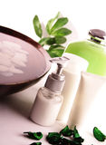 BADEKURORT-Kosmetikserie stockbilder