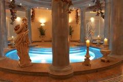Badekurort mit römischen Spalten Lizenzfreie Stockfotos