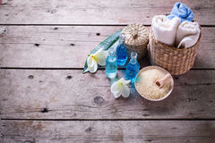 Badekurort oder Wellnessbioprodukt Stockfoto