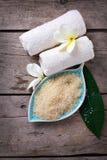 Badekurort oder Wellnesseinstellung Organisches Naturprodukt Stockfoto