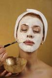 Badekurort-organische Schönheits-Gesichtsbehandlung-Schablone Stockfotografie