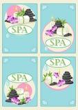 BADEKURORT Visitenkarten Stockfotografie