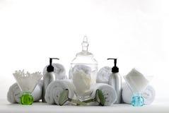 Badekurortbehälter und -produkte Stockfotografie