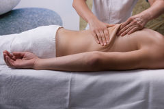 Badekurortbehandlung, Massage Stockbild