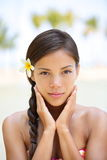 Badekurortfrau Wellneßschönheits-Frauenporträt Stockbild