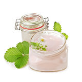 Badekurortprodukte und strawbwrry Blume Lizenzfreies Stockfoto