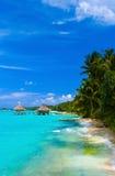 Badekurortsalon auf Strand Stockfoto