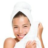 Badekurortschönheits-Behandlungfrau Stockfoto