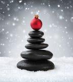 Badekurortsteine - im Weihnachten stockbild