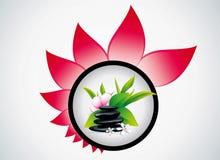 Badekurortsteine mit Blume lizenzfreie abbildung