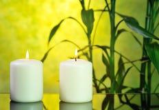 Badekurortstillleben mit Bambus Lizenzfreie Stockbilder