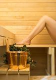 Badekurortzubehör in der Sauna Lizenzfreie Stockbilder