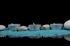 Badekurortzusammensetzung im Blau Stockbild