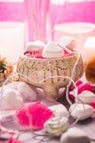 Badekurortzusammensetzung Valentinsgruß-Tagesherzliebes-Körpergesundheit Lizenzfreie Stockfotos