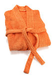 Bademantel-Orange Stockfotografie