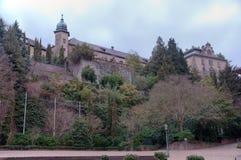 baden城堡新的视图 免版税库存图片