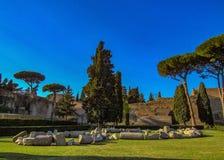 Baden av Caracalla i Rome, Italien arkivfoto