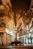 BADEN-BADEN,德国12月11日:城市圣诞节装饰在 免版税库存图片