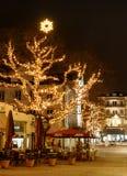 BADEN-BADEN,德国12月11日:城市圣诞节装饰在 免版税图库摄影