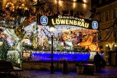 BADEN-BADEN,德国12月11日:城市圣诞节装饰在 库存照片