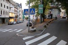 Baden-Baden gataföreningspunkt royaltyfri fotografi