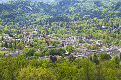 Baden-Baden, Germany. Panoramic view of Baden-Baden, Germany Royalty Free Stock Photo