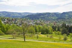 Baden-Baden, Germany. Panoramic view of Baden-Baden, Germany Stock Photo