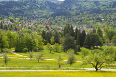 Baden-Baden, Germany. Panoramic view of Baden-Baden, Germany Royalty Free Stock Photos