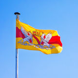Baden flag, waving Royalty Free Stock Images