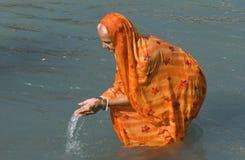 Baden in Haridwar 2 Stockfotografie