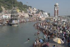 Baden in Haridwar 5 Stockfotos