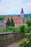 Baden Baden kyrka Stiftskirche i Tyskland Royaltyfria Foton