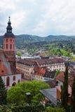Baden Baden kyrka Stiftskirche och centrum i Tyskland Royaltyfria Bilder