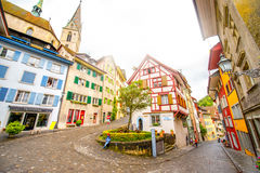 Baden old town in Switzerland royalty free stock image