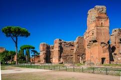 Baden van Caracalla, Rome, Italië Royalty-vrije Stock Afbeeldingen