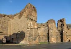 Baden van Caracalla Termas Di Caracalla ruïnes - Rome, Italië stock fotografie