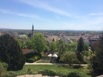 Baden view, Vienna nobility summer retreat Royalty Free Stock Image